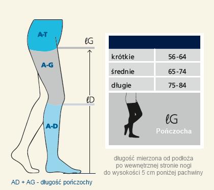Długość pończochy Sigvaris Cotton